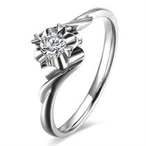 【美丽】 PT950铂金18分/0.18克拉钻石戒指