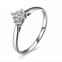 【星晴】 白18k金33分/0.33克拉钻石戒指