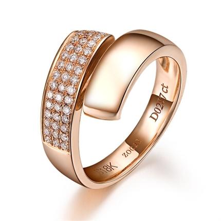 【玫瑰丽人】 玫瑰金18K金戒指