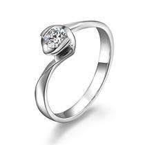 【缠绵的爱】 白18k金21分/0.21克拉钻石戒指