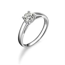 【清幽】 白18k金50分/0.5克拉钻石戒指