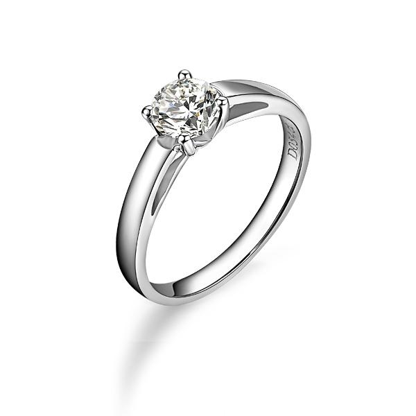 》》点击进入【清幽】 白18k金50分/0.5克拉钻石戒指