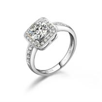 【美宴】 白18k金100分/1.0克拉钻石戒指