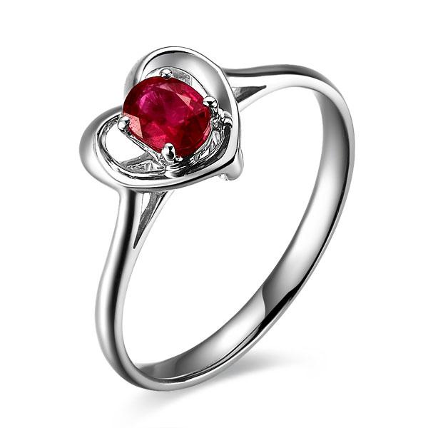 》》点击进入【甜蜜】 天然红宝石白18K金女士戒指