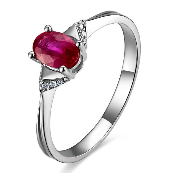 》》点击进入【星点】 白18K金女士红宝石戒指/结婚戒指
