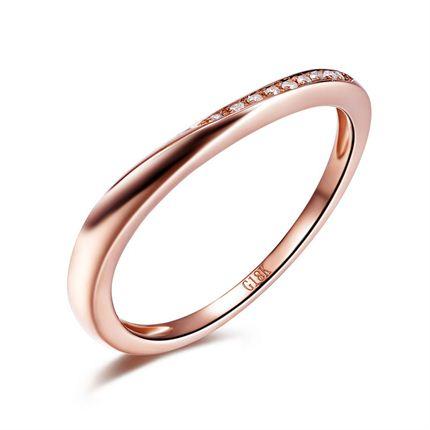 【约定】 玫瑰18K金钻石女士戒指