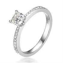 【流芳】 白18k金1克拉钻石戒指