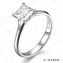 【公主祝福】 白18k金钻石戒指