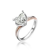 【心驿动】 101分玫瑰金钻石戒指