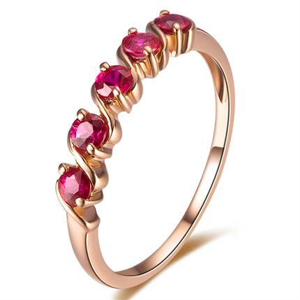 【随心】 0.4克拉18K玫瑰金深红宝石戒指