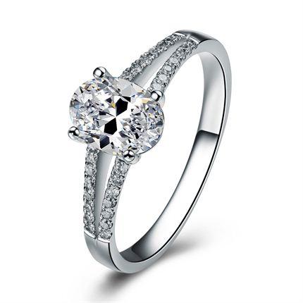 【康桥之恋】 白18K金 钻石戒指