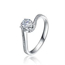 【飞雪】 白18k金40分/0.4克拉钻石戒指