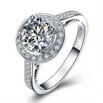 【MY LOVE】 白18K金 奢华钻石戒指