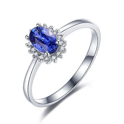 【梦之蓝】 奢华蓝宝石戒指