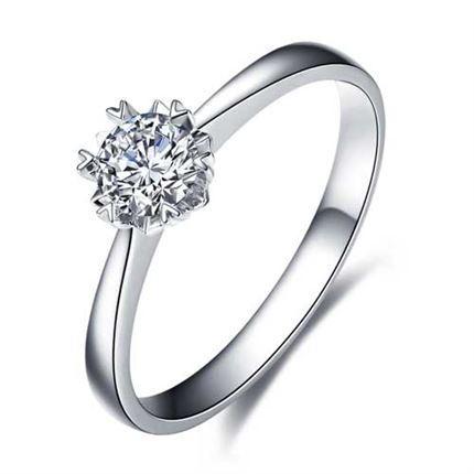 【纯情】系列 PT950铂金30分/0.30克拉钻石戒指