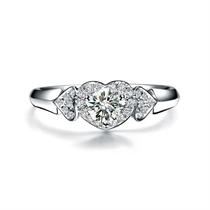 【心相印】 白18k金31分/0.31克拉钻石戒指