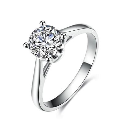 【爱的见证】 白18k金50分/0.5克拉钻石戒指