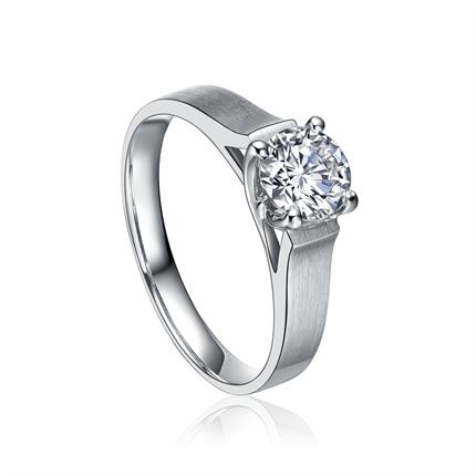【爱永恒】 70分白18k金戒指