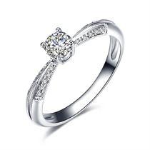 【涟漪】 白18K金钻石女士戒指