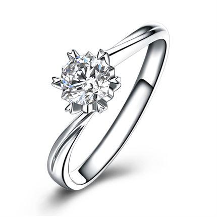 【雪花】 白18k金25分钻石戒指