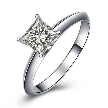 【流年】 白18k金101分/1.01克拉钻石戒指