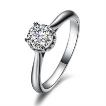 【舞爱】 白18k金戒指