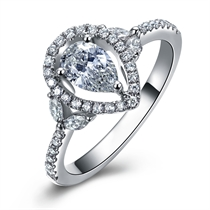【蝶儿飞】 白18k金钻石戒指