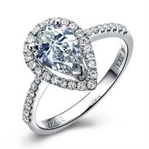 【心醉】 白18k金钻石女士戒指