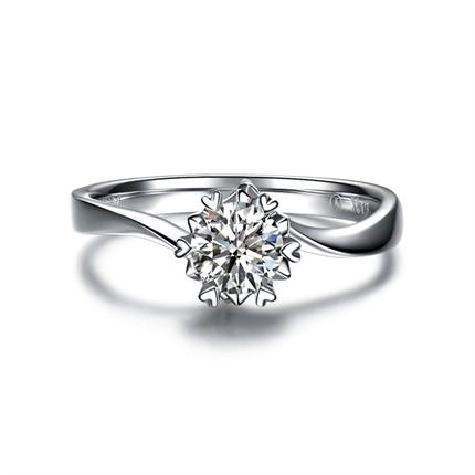 【纯粹】 PT950铂金23分/0.23克拉钻石戒指