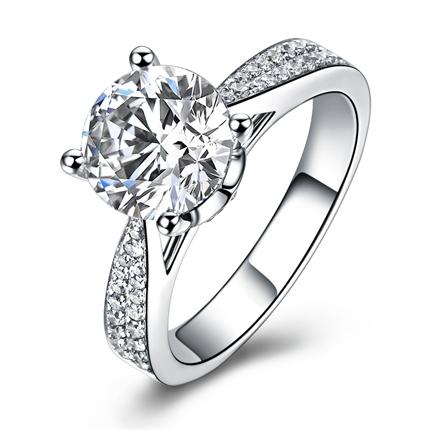 【巴黎盛典】 白18k金钻石女士戒指
