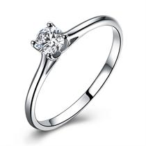 【对白】 白18k金30分/0.3克拉钻石戒指