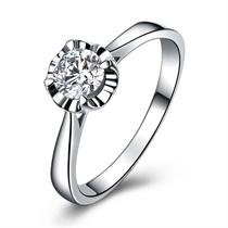【值得】 白18k金50分/0.5克拉钻石戒指