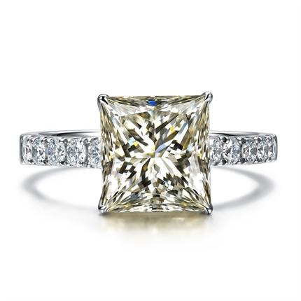 【愛神之語】 白18k金鉆石戒指