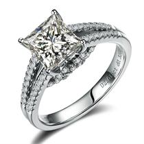【罗马印记】 白18k金50分/0.5克拉钻石戒指