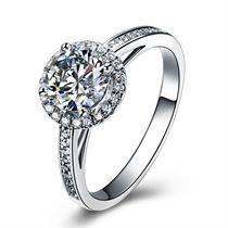 【炫舞】 白18K金钻石女士戒指