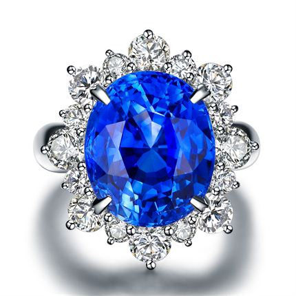【维纳斯之泪】系列 PT900铂金  蓝宝石戒指