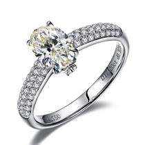 【茹雪】 白18k金 钻石戒指