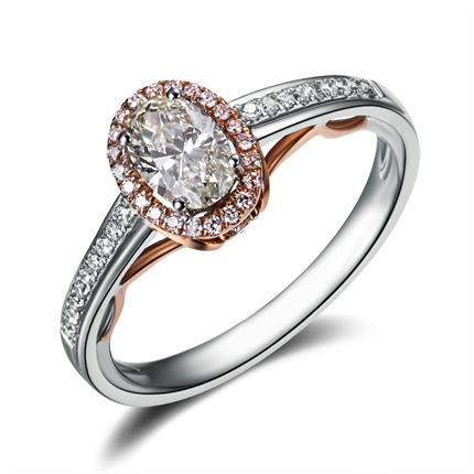 【缘定三情】 白18k金 钻石戒指