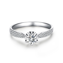 【真爱】系列 白18K金钻石戒指