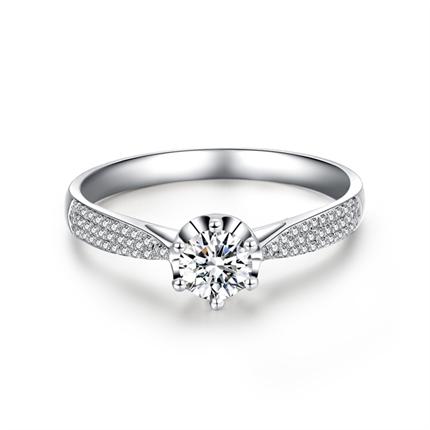 【真爱】系列 白18K金50分/0.5克拉钻石戒指
