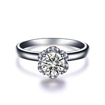 【捧花】 白18K金25分/0.25克拉钻石戒指