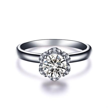 【捧花】 白18K金 钻石女士戒指