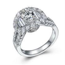【靓丽之眼】 白18K金钻石女士戒指
