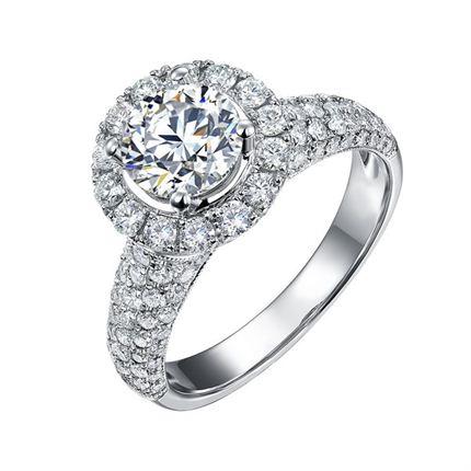 【梦幻城堡】 白18K金 钻石女士戒指