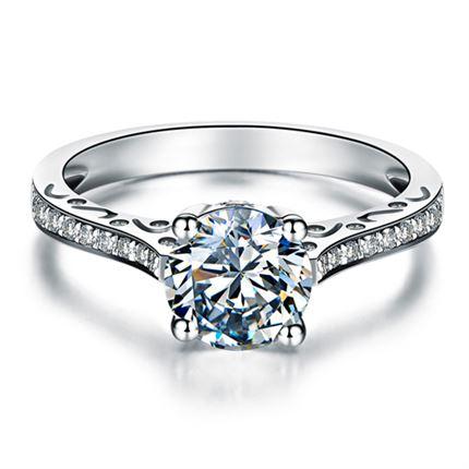 【萌宠】系列 白18k金钻石戒指
