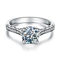 【秀美】 白18K金30分/0.3克拉钻石戒指