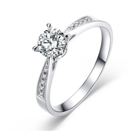 【静爱】 白18K金女士戒指
