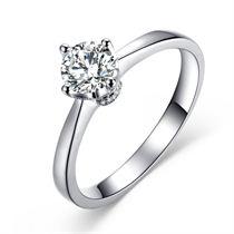 【怡心】 白18K金 钻石女士戒指