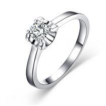 【梦想】 白18K金30分/0.3克拉钻石戒指