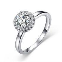 【缘定一生】 白18K金  钻石女士戒指